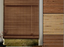 Wondrous-Brown-Bamboo-Insulated-Roman-Blinds-With-Many-Bamboo