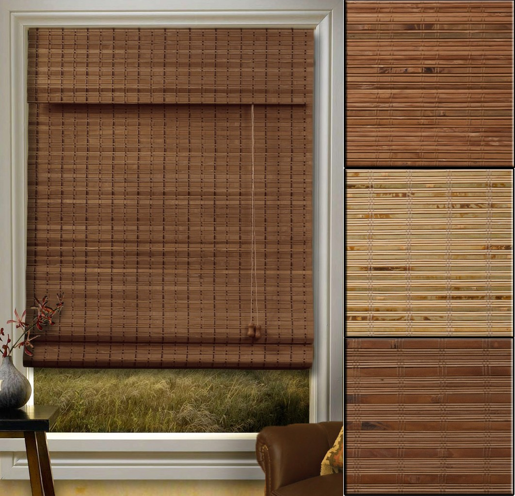 accessories roman window decorating using in awesome brown pine with room and insulated ideas living fruit blinds inspiring decoration light wooden